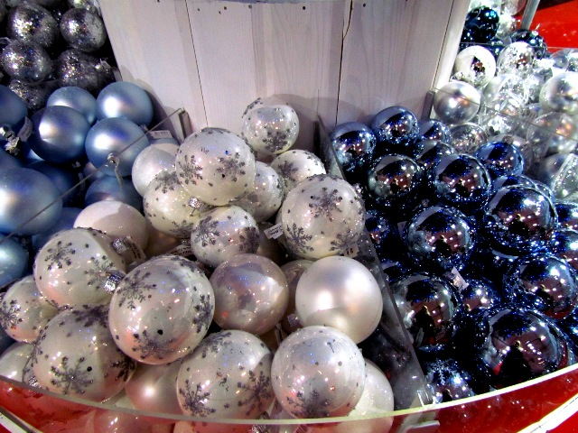 "Shiny ornaments in the ""Deco"" tent."