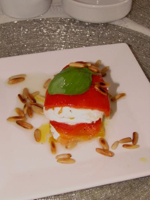 Poivrons Mozzarellla au Basilic