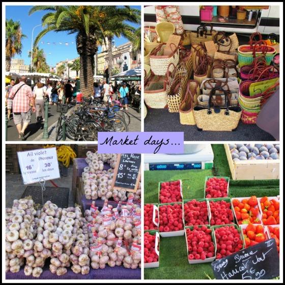 Sanary Market Collage
