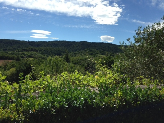 View from Bastide terrace
