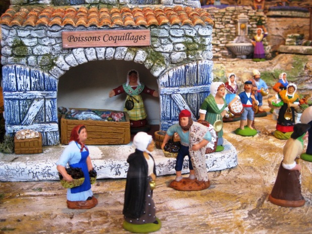 Close-up of a Provençal nativity scene